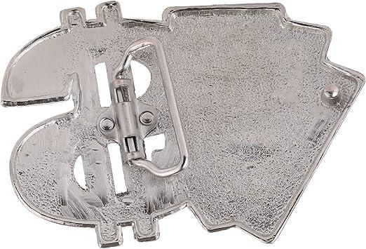 Baoblaze Novedad Poker Dice $ Hebilla De Cintur/ón Metal Western Cowboy Cowgirl Jewelry Hebilla