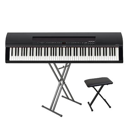 Amazon com: Yamaha P255B digital portable piano 88 key