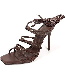 2c3eb61b34044 Zara Women's Leather Strappy high-Heel Sandals 6334/301: Amazon.co ...