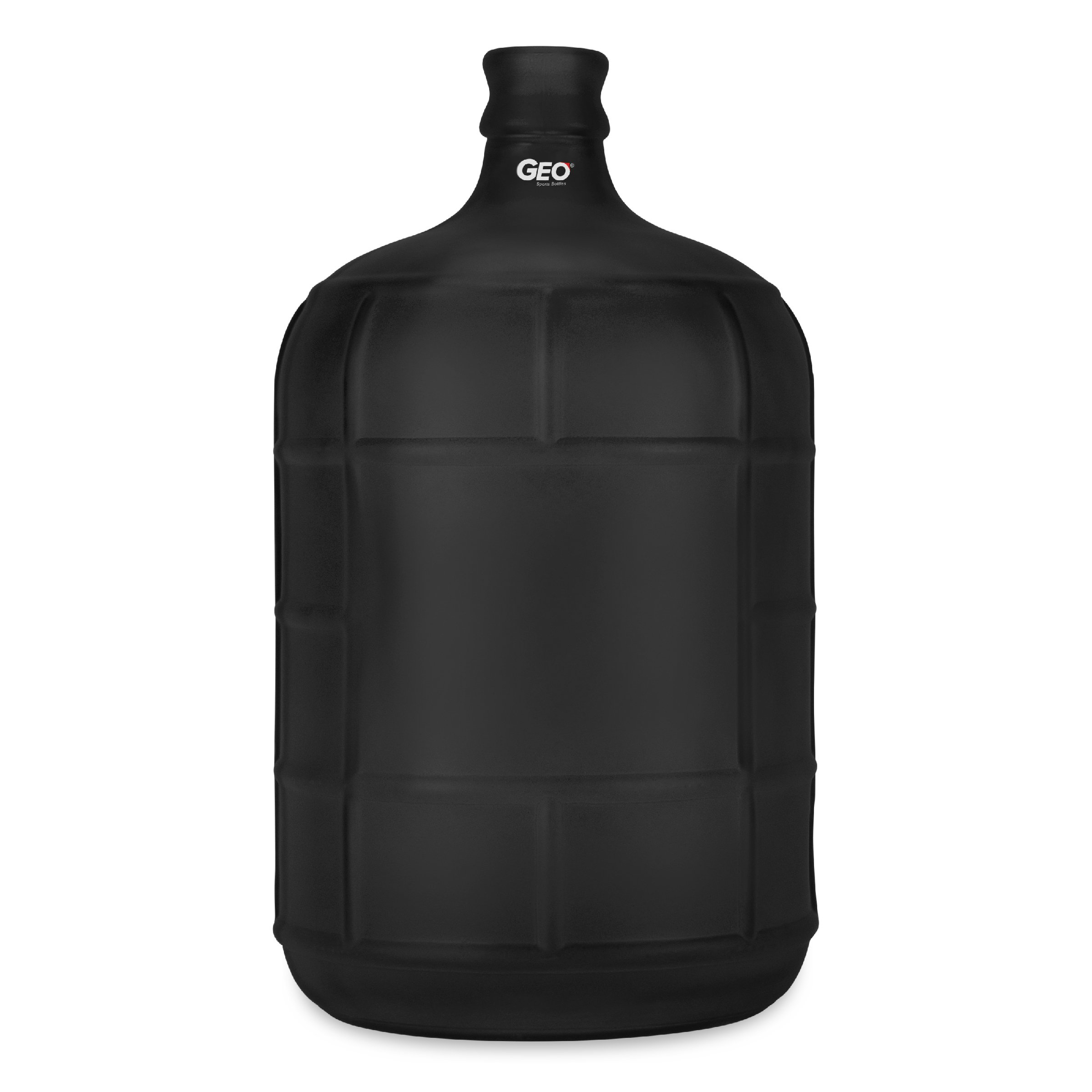 Geo Sports Bottles 3 Gallon Round Glass Carboy fits 30mm Cork Finish or 55mm Push Cap Home Brew (Frosted Black)