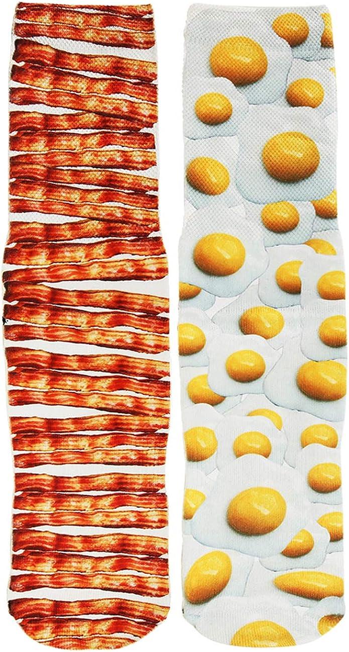 Mens Funny Crazy Socks Boys Kids Colorful Cool 3D Print Animal Food Graphics Novelty Athletic Socks Gift