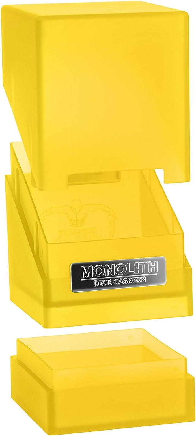 amazon com ultimate guard 100 card monolith deck case amber toys games ultimate guard 100 card monolith deck case amber