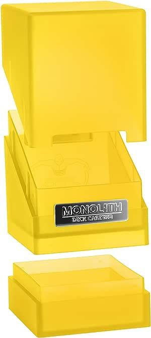 Ultimate Guard Monolith Deck Case 100+ Caja de Cartas Tamaño Estándar Ámbar: Amazon.es: Juguetes y juegos