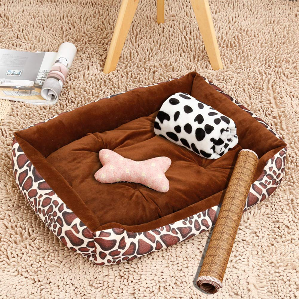 C 806515cmPet Bed,Dogs & Cats Ultra Comfort Washable Dog Bed Suitable for Small and Medium Dog 5 Flower Patterns are Available