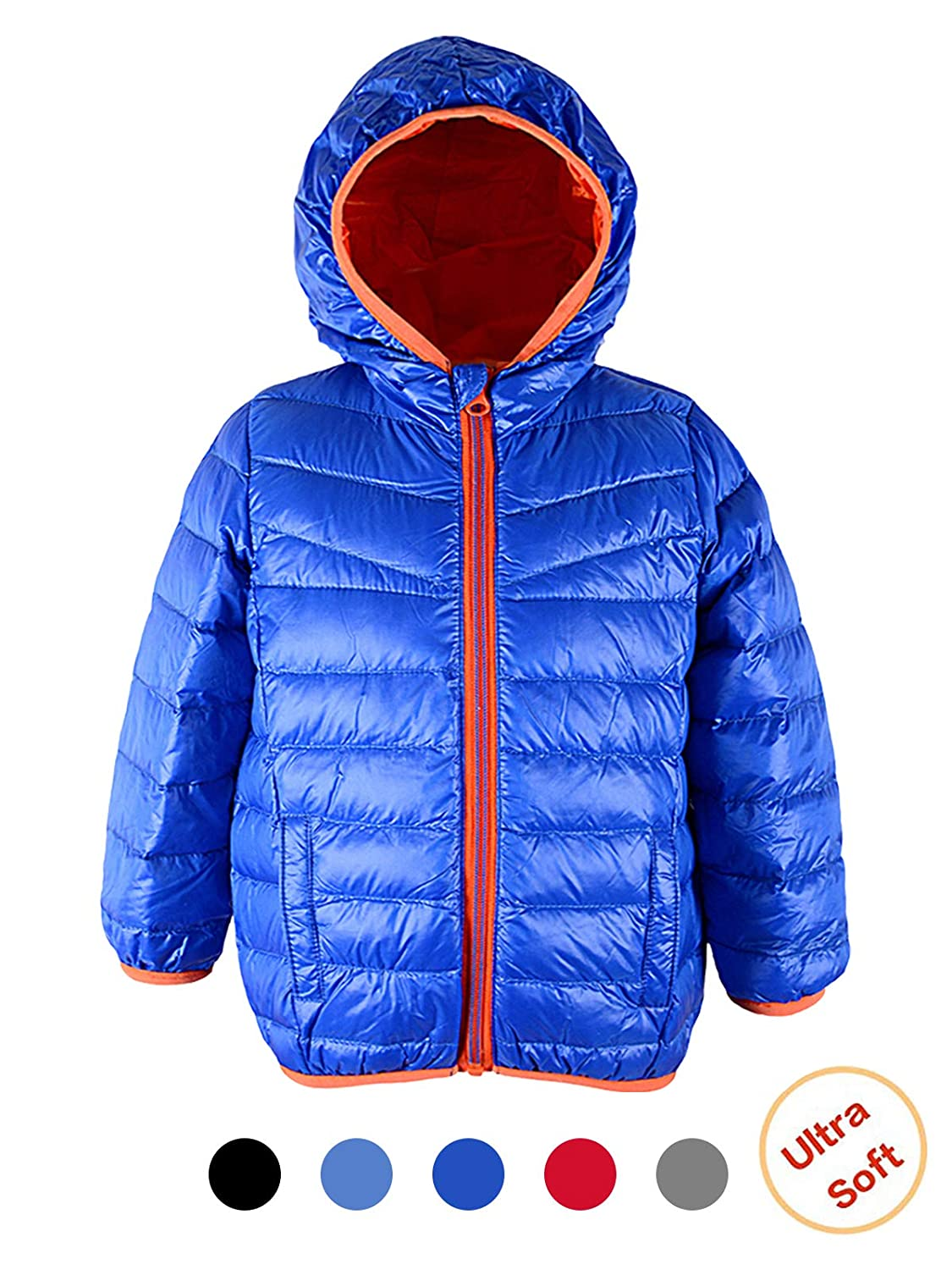 Century Star Packable Down Coat Light Weight Windproof Outwear Colorful Children Warm Puffer Jacket