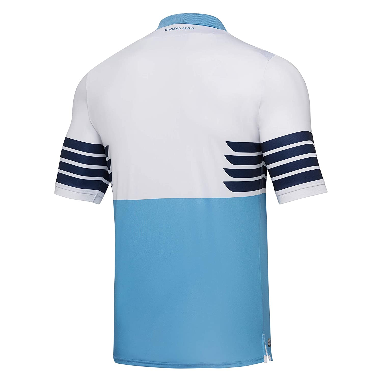 e833a1af8 Amazon.com   Macron 2018-2019 Lazio Authentic Home Match Football Soccer T-Shirt  Jersey   Sports   Outdoors