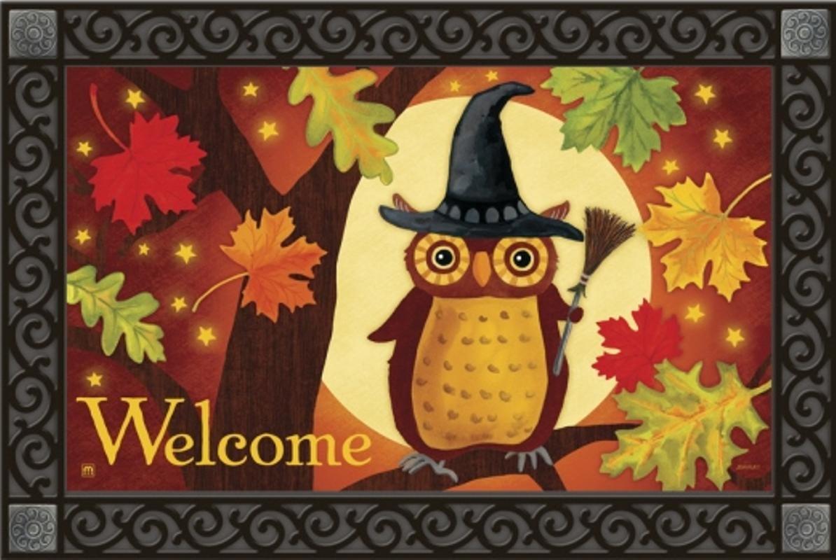 Halloween Owl Doormat
