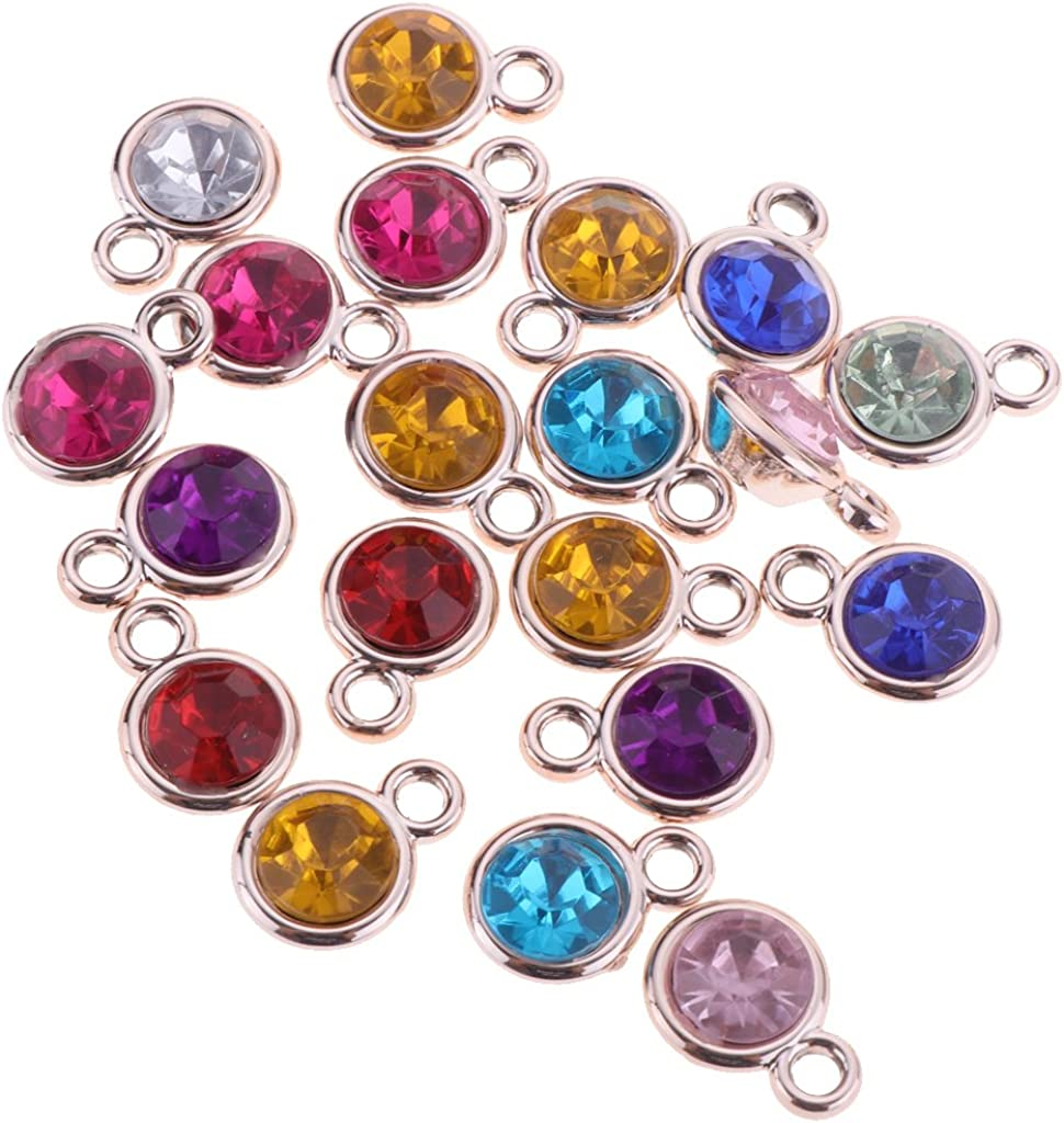 perfektchoice Wholesale 20Pcs Alloy Acrylic Charms Pendents DIY Jewelry Making Findings Pick