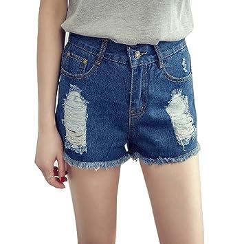 Guiran Pantalones Cortos De Mezclilla Mujer Pantalones ...
