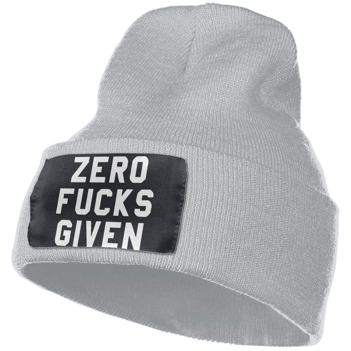 MaoXCatt Zero Fucks Given Men /& Women Winter Fashion Knitted Hat