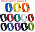 I-SMILE Replacement Wristband with Secure Clasps for Garmin Vivofit 3 Only(No Tracker, Replacement Bands Only)