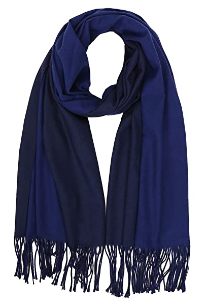 a9871cf61 Jaweaver Two Tone Cashmere Scarf For Women Men, Large Warm Pashmina Shawl  Wrap Fall Winter