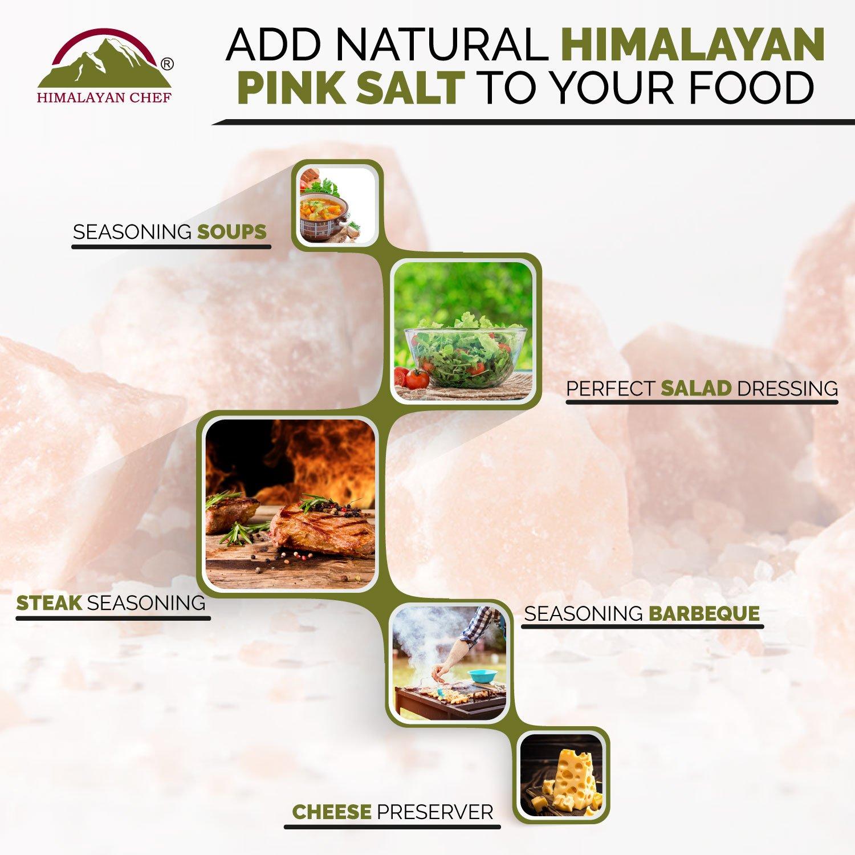 13.25 LBS Himalayan Chef Natural Pink Salt Fine Plastic Jar,100/% Pure Himalayan Salt