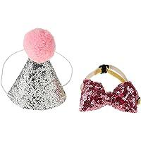 Papillon collare di cane gatto animali domestici per feste e attività compleanno cappello di compleanno per decorare cani