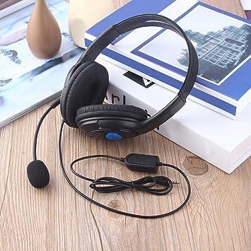 Auriculares para Auriculares con Cable y micrófono para Sony PS4 Playstation 4: Amazon.es: Electrónica