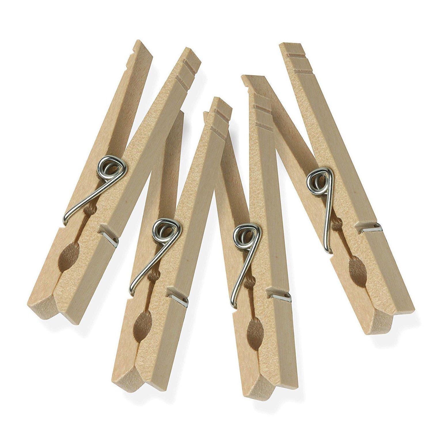 100 Wooden Clothespins