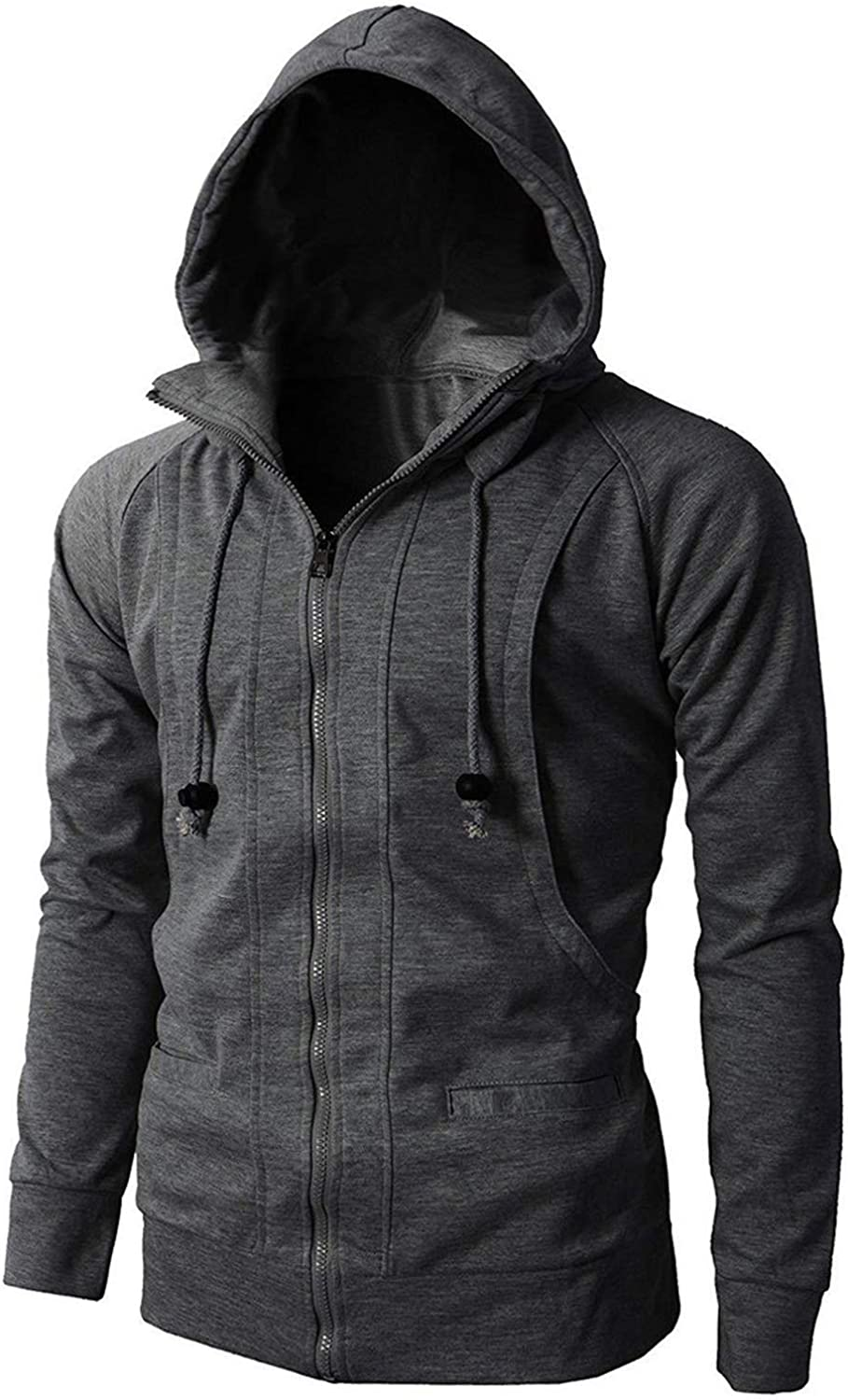 Autumn Winter Hoodie Sweatshirts Long Sleeve Sport Zipper Pullover Tops Men Hooded Sweatshirt