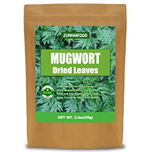 Natural Dried Mugwort Herb Leaves, Mugwort Leaf, Cut & Sifted, 100% Pure (2.0 oz)