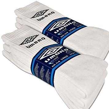Calcetines Deporte Umbro color blanco lote de 3, 6 o 9 pares bajo licencia Umbro Lot de 6 Talla:39-42: Amazon.es: Deportes y aire libre