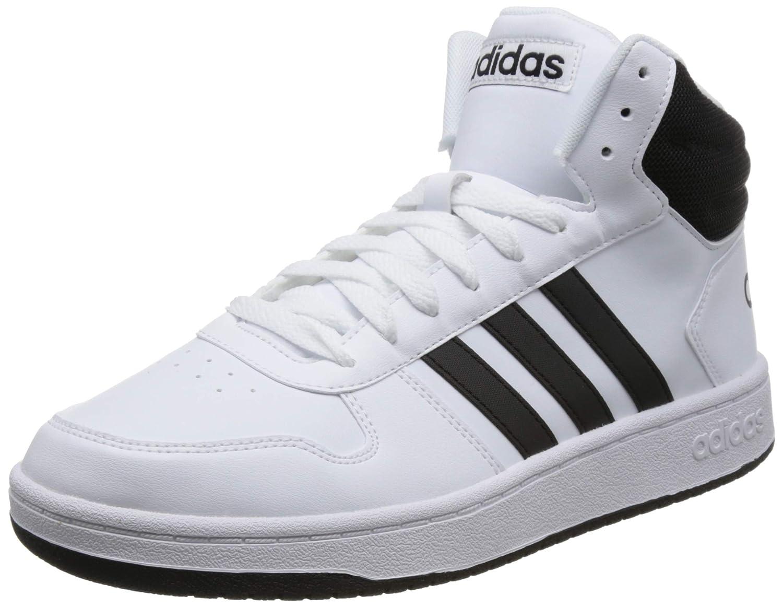 Weiß (Ftwbla Negbás Negbás 000) adidas Herren Hoops 2.0 Mid Fitnessschuhe, Grau
