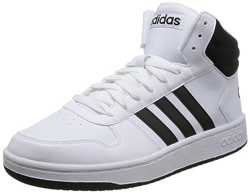 3f750e7a5b79 Adidas Men s Hoops 2.0 Mid Ftwwht Cblack Basketball Shoes-10 UK India (44