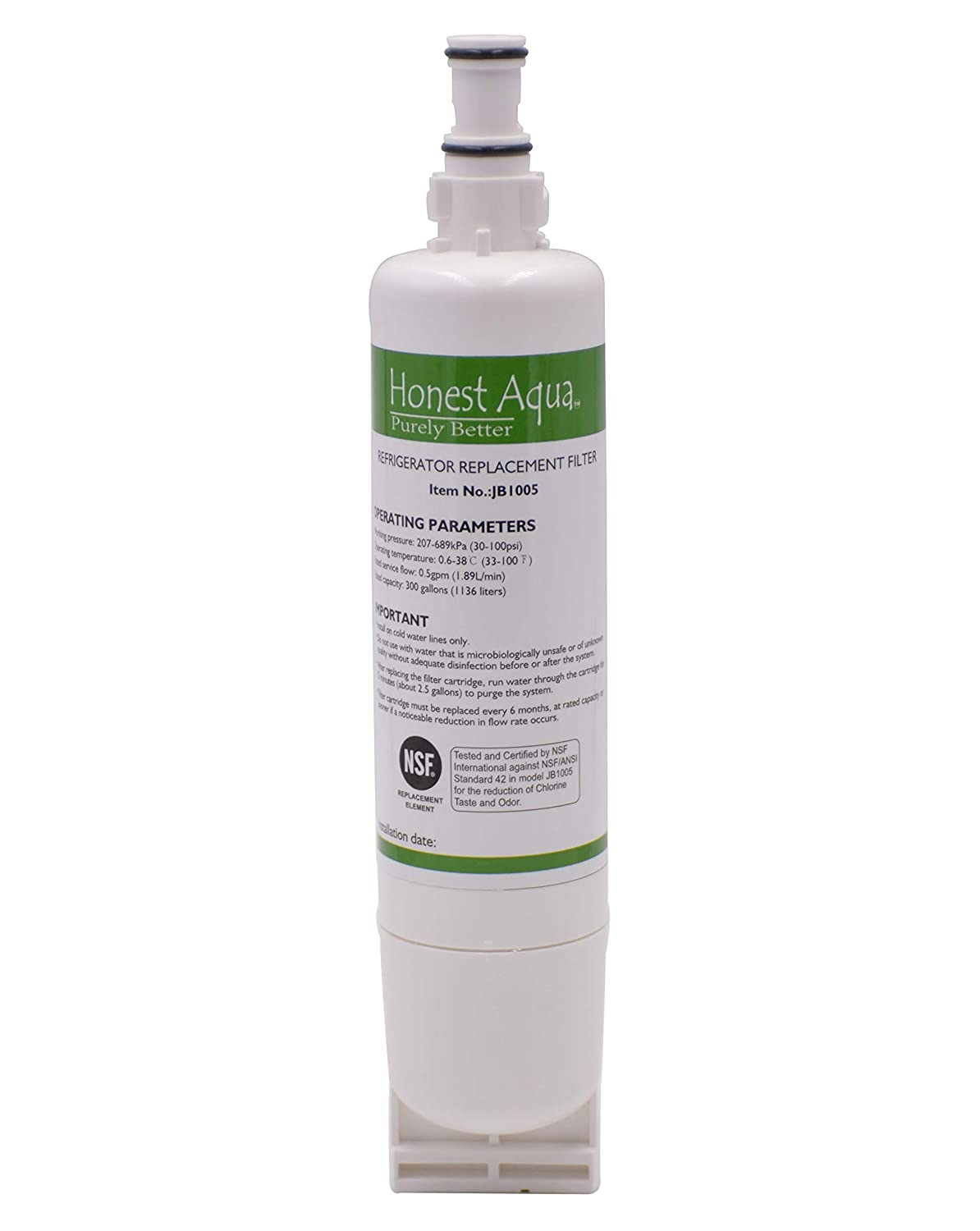 Whirlpool 4396508 Compatible Refrigerator Water Filter, replacement for 4396510, 4396508, Filter 5