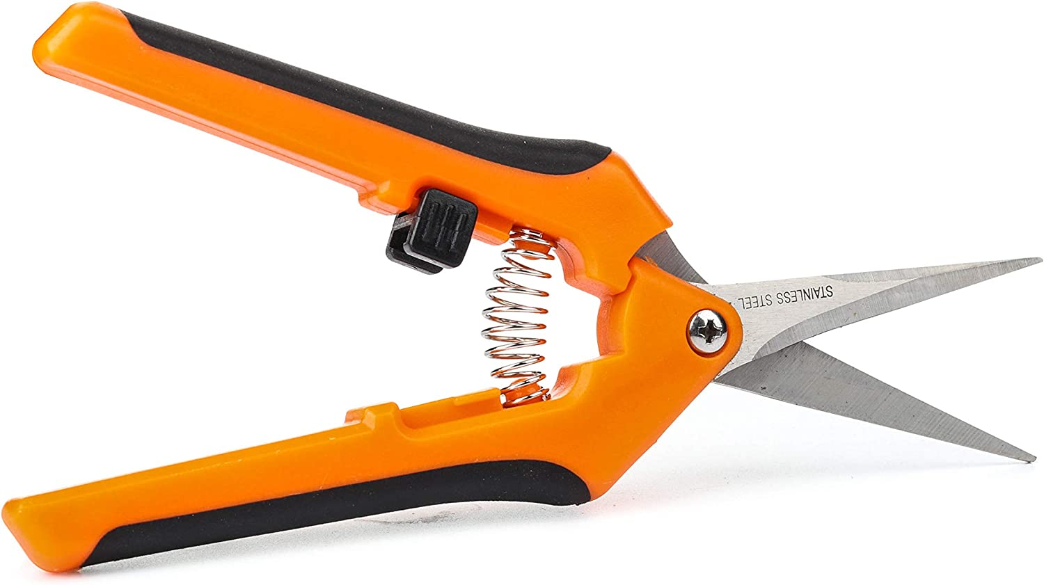 Cokle 6.5 Inch Gardening Shears,Professional Pruner,Pruning Shear with Straight Stainless Steel Blades,Clippers for Plants Gardening Trimming (Orange)