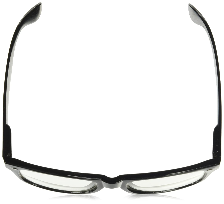 3ac5242f0e2 Amazon.com  RETRO NERD Geek Oversized BLACK Framed Spring Temple Clear Lens  Eye Glasses  Clothing