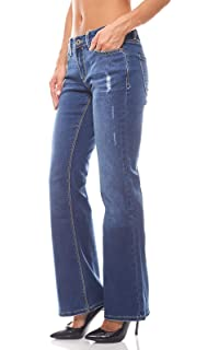 Arizona Jeans Bootcut Damen Kurzgröße Dark Blue Gr. 17