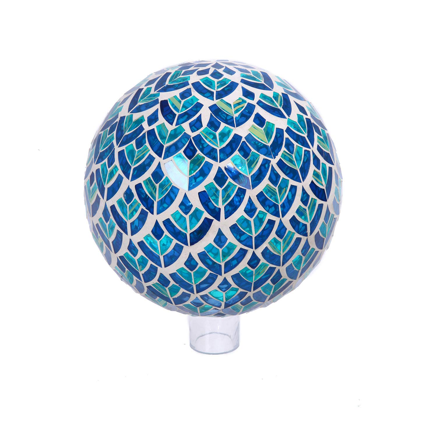 Goose Creek Colorful Mosaic Glass Gazing Ball 10'',Blue