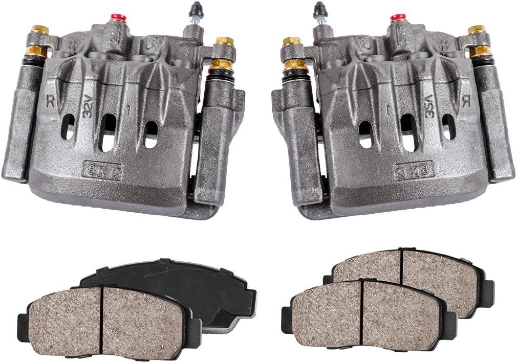 Hardware Kit REAR Premium Red Coated Caliper Pair Ceramic Brake Pads Callahan CCK03927 2