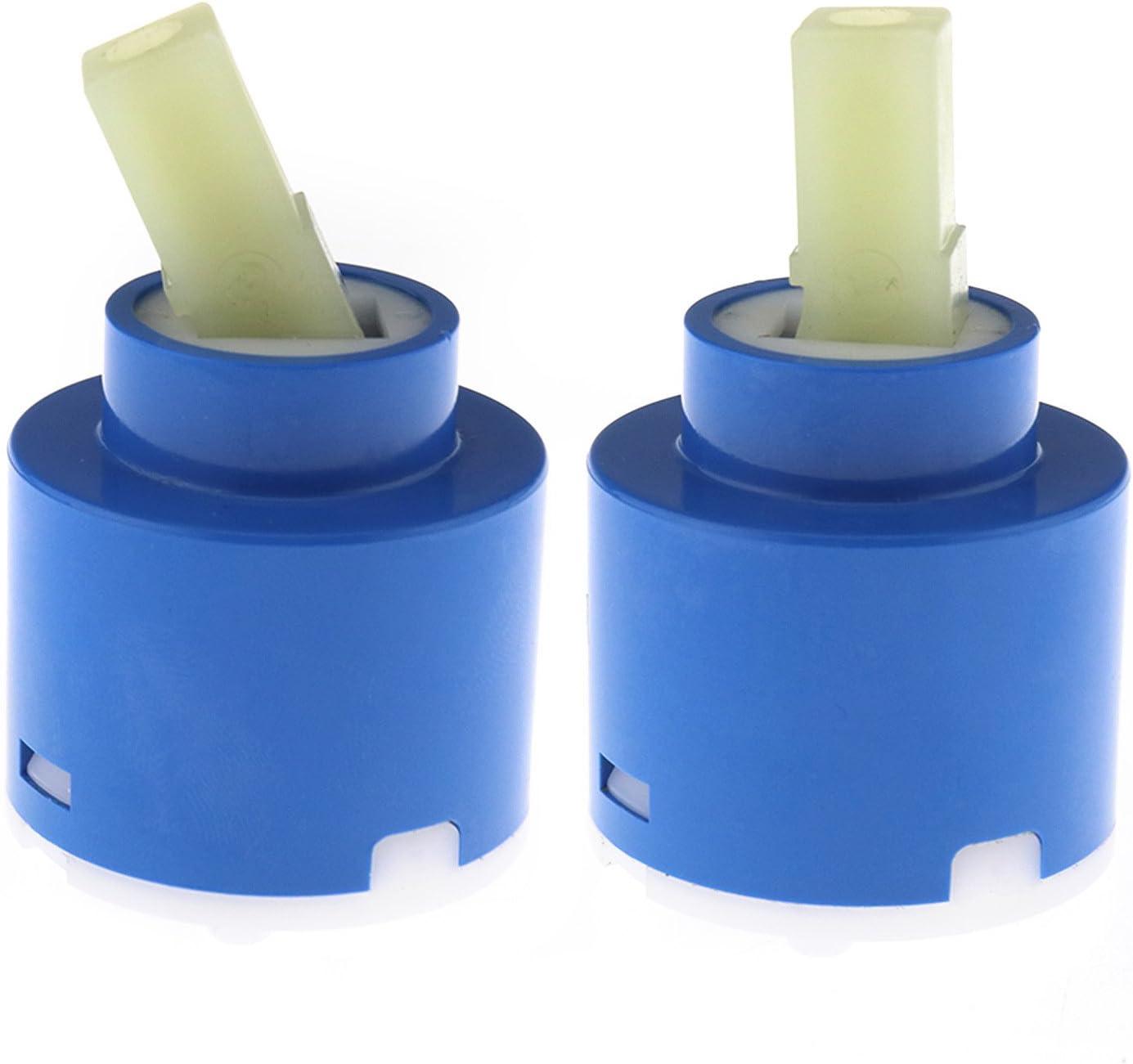 2 cartuchos de cerámica de 40 mm, disco de baño de ducha, palanca, cuarto de baño, cocina, reparación de herramientas