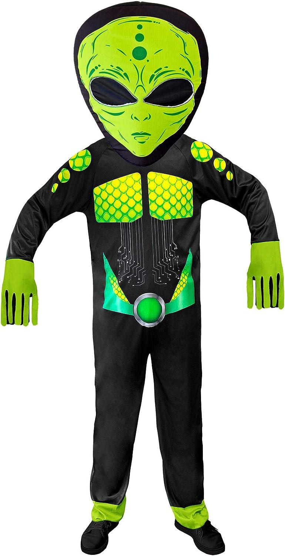 WIDMANN 01931 Disfraz Alien Unisex - Adulto, Negro/Verde, S/M ...
