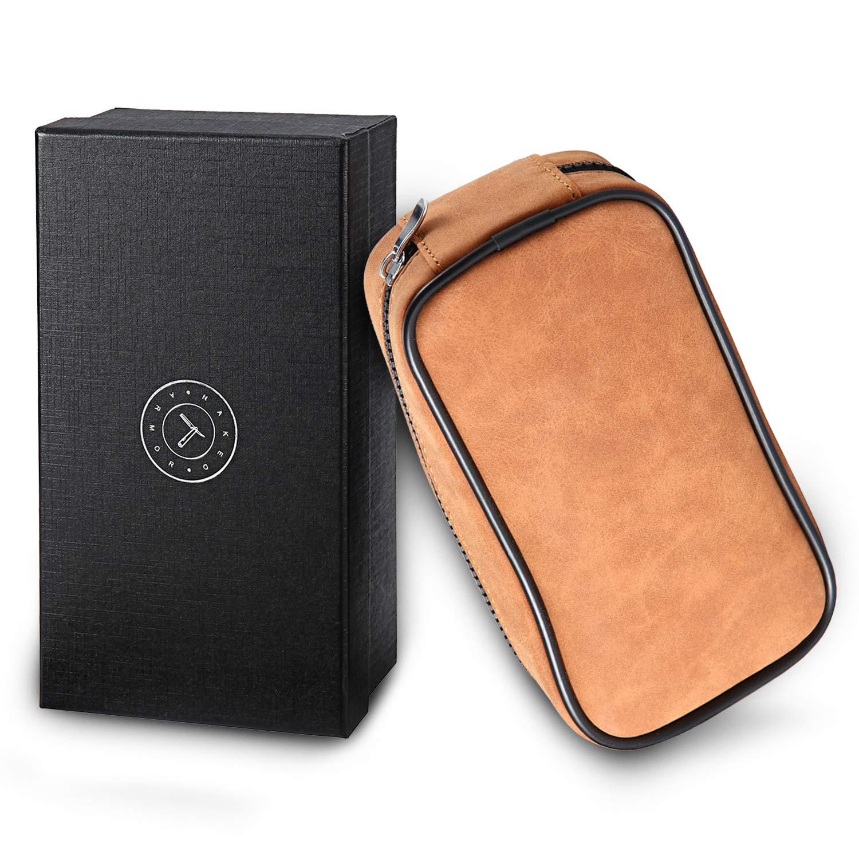 Leather Razor Case, Safety Razor Case, Straight Razor Case, Disposable Razor Case - Travel In Style, Travel Razor Case - Place For Razor, Brush & Shave Cream