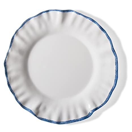 tag - Ruffle Rim Melamine Dinner Plate Durable BPA-Free and Great for  sc 1 st  Amazon.com & Amazon.com | tag - Ruffle Rim Melamine Dinner Plate Durable BPA ...