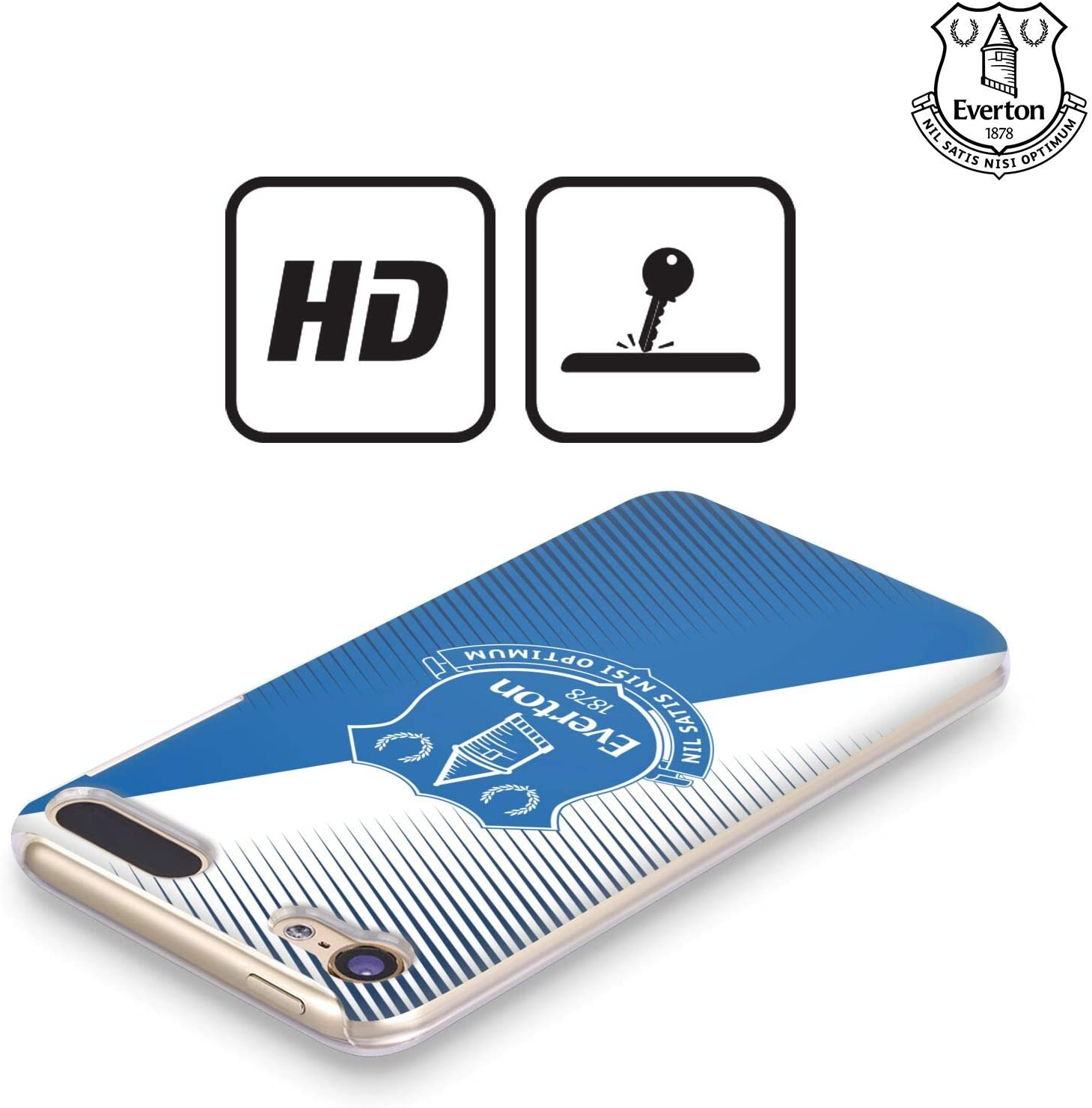 Official Everton Football Club Plain Blue 2019//20 CREST Hard Back Case Compatible for Apple iPod Touch 5G 5th Gen