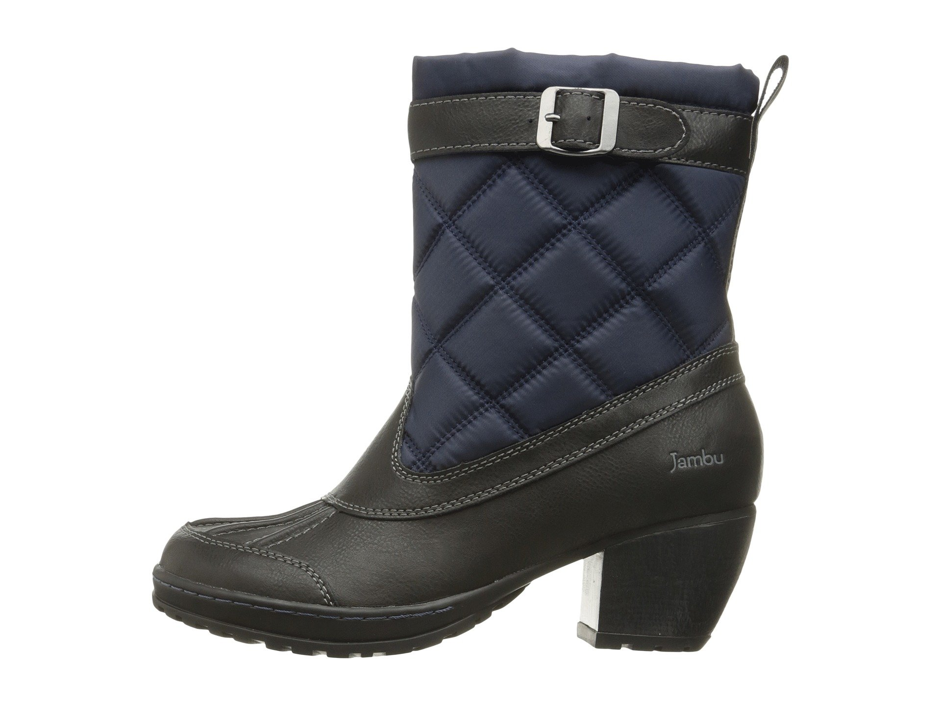 Jambu Women's Dover-Vegan Rain Boot, Navy/Black, 9.5 M US
