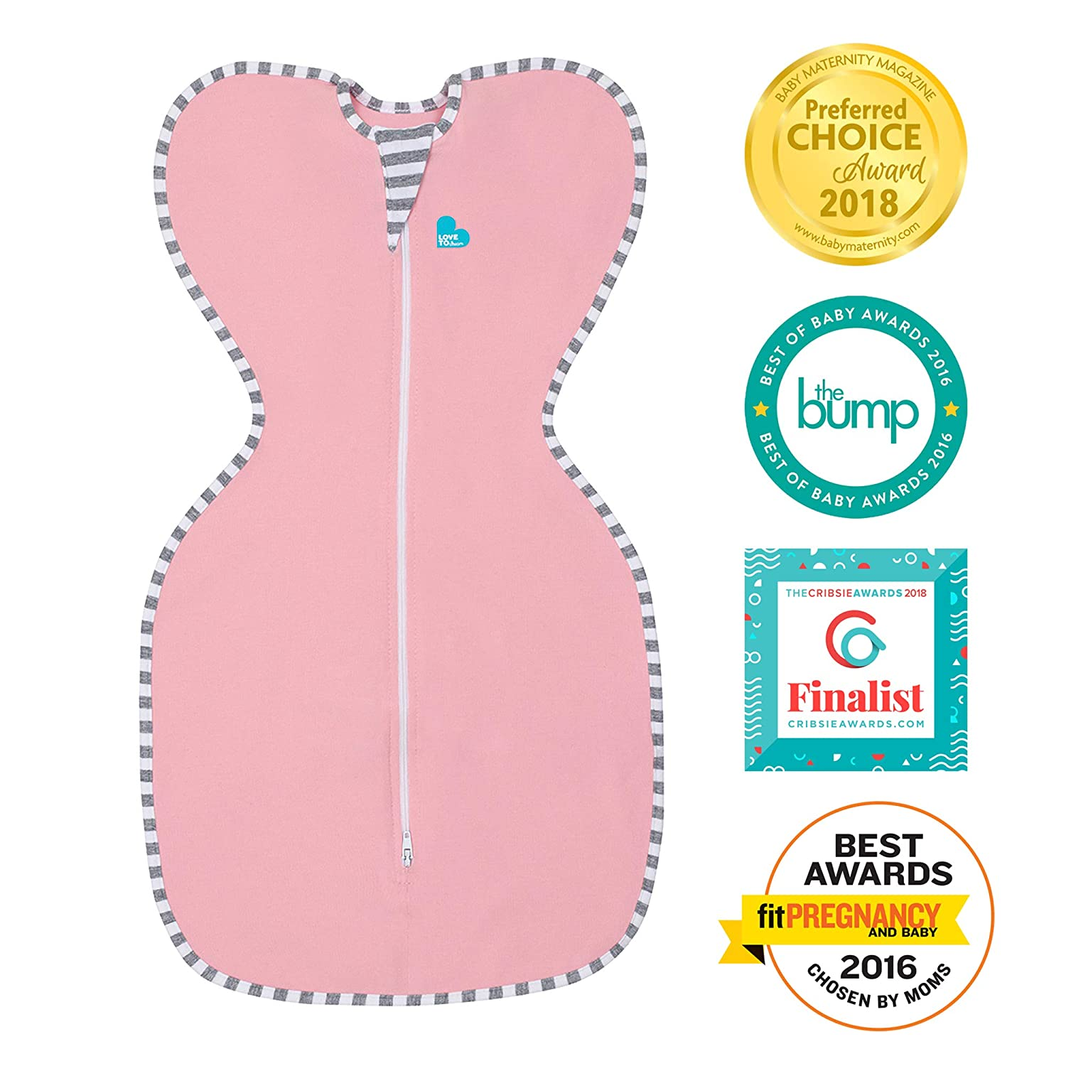 Love to dream Baby Swaddle Pink Small 3-6kgs   B005MAU21A