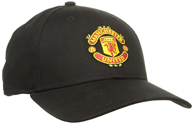 New Era Men's 9Forty Manchester United Cap Baseball Cap, Black (Team), One Size (Manufacturer Size:One))