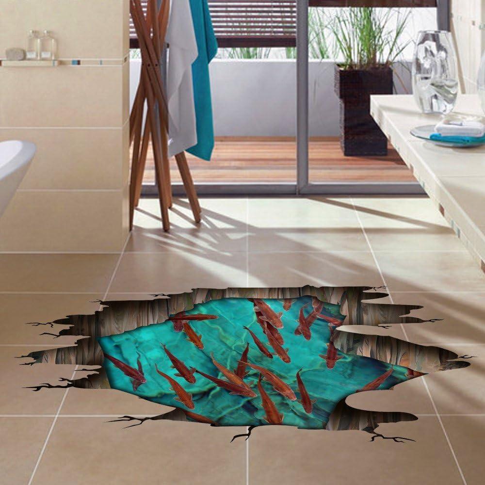 Grosse 3d Sticker Der Boden Loch Aufkleber Schlafzimmer Wohnzimmer Bad Kreative Hd Post Aufkleber 006 Amazon De Kuche Haushalt
