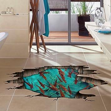 SAEJJ-3D solide Wandaufkleber Aufkleber Boden kreative Schlafzimmer ...