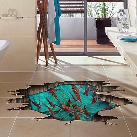 Große 3d Hd Dreidimensionale Mode Boden Aufkleber Wohnzimmer