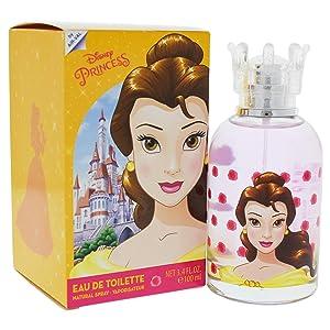 Disney Princess Belle Eau de Toilette Spray for Kids, 3.4 Ounce