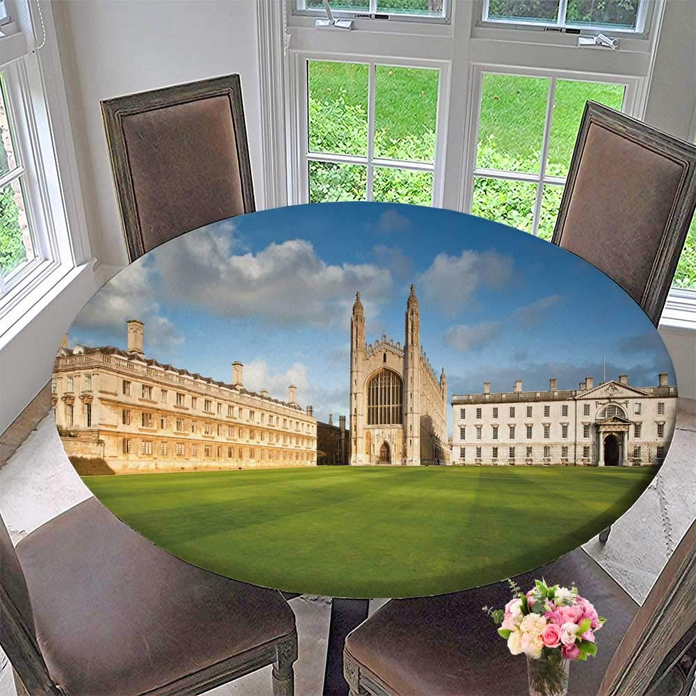 PINAFORE HOME The Round Table Cloth Cambridge University and ks College Chapel for Birthday Party, Graduation Party 47.5''-50'' Round (Elastic Edge)