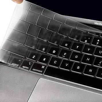 ProElife - Funda protectora para teclado de Apple MacBook Air de 13 pulgadas y 13,3 pulgadas (A1932, 2018) con protector de pantalla Retina Touch ID