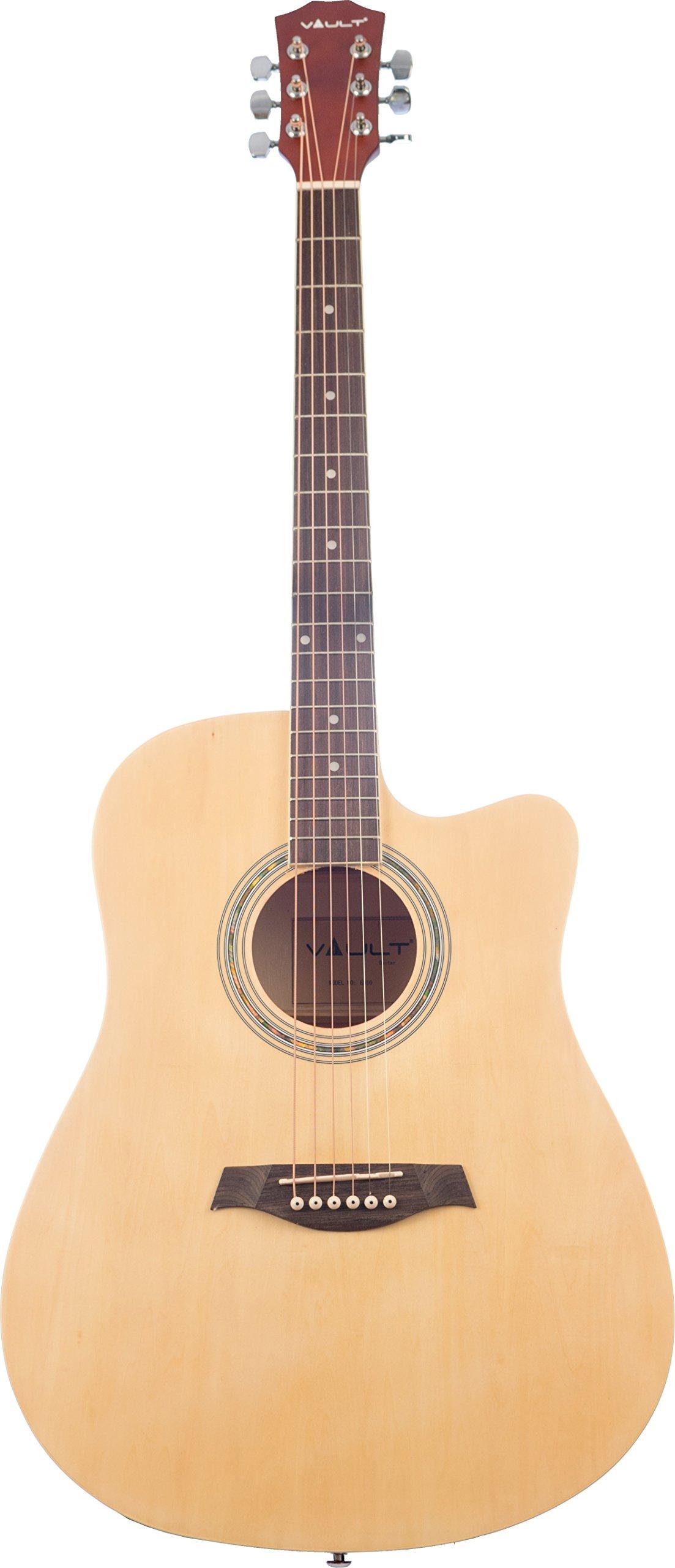 Vault ED-10C Cutaway Acoustic Guitar - Natural