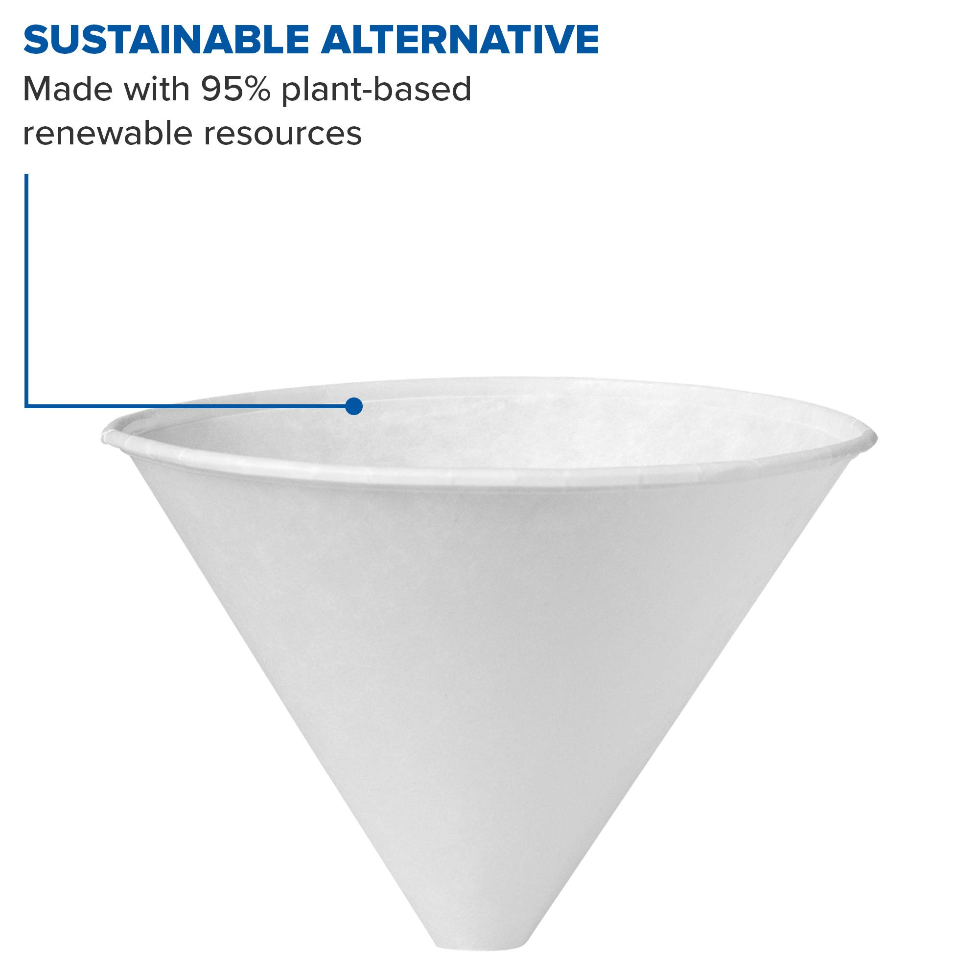 Solo 6SRX-2050 6 oz White Paper Cone Cups (Case of 2500) by Solo Foodservice (Image #4)