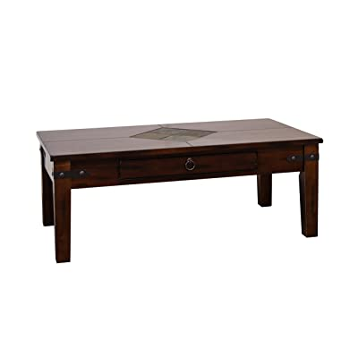 Sunny Designs Santa Fe Coffee Table In Dark Chocolate