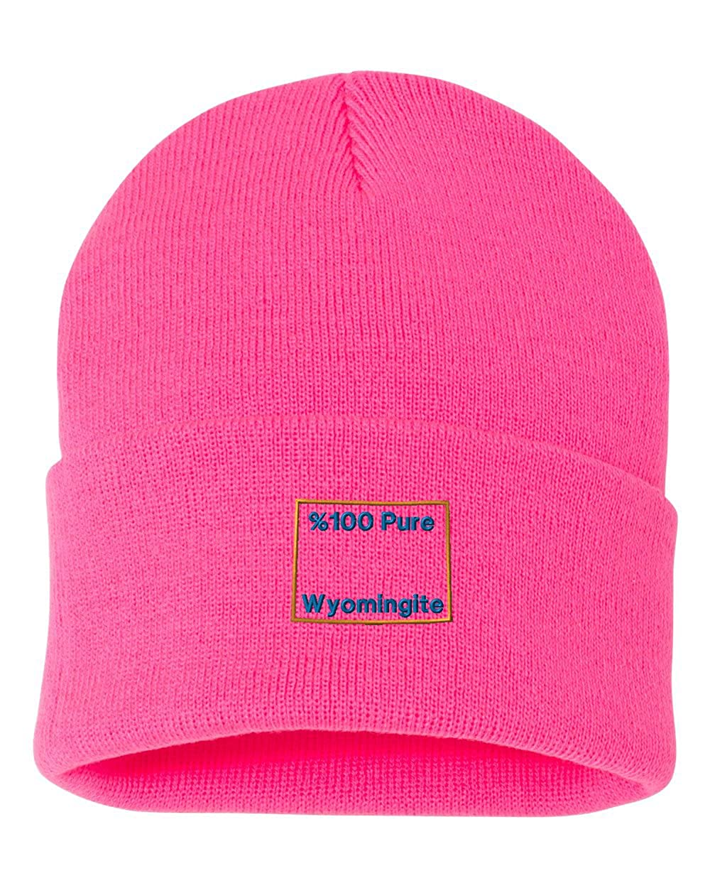 /%100 Pure Wyomingite Custom Personalized Embroidery Embroidered Beanie