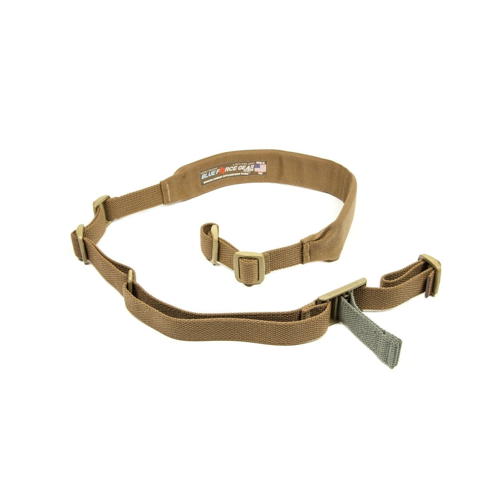 Blue Force Gear Vickers 2-Point Padded Combat Sling, Coyote Brown by Blue Force Gear